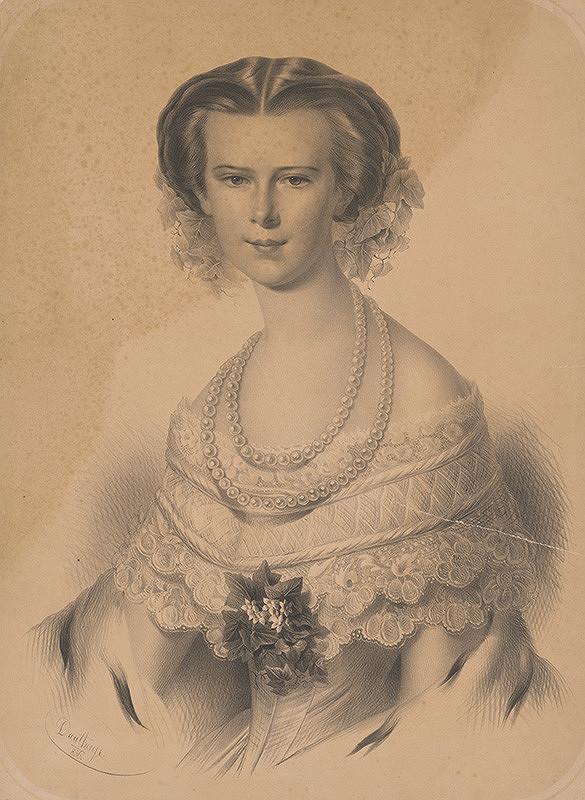 Adolf Dauthage - Portrét cisárovnej Alžbety Bavorskej