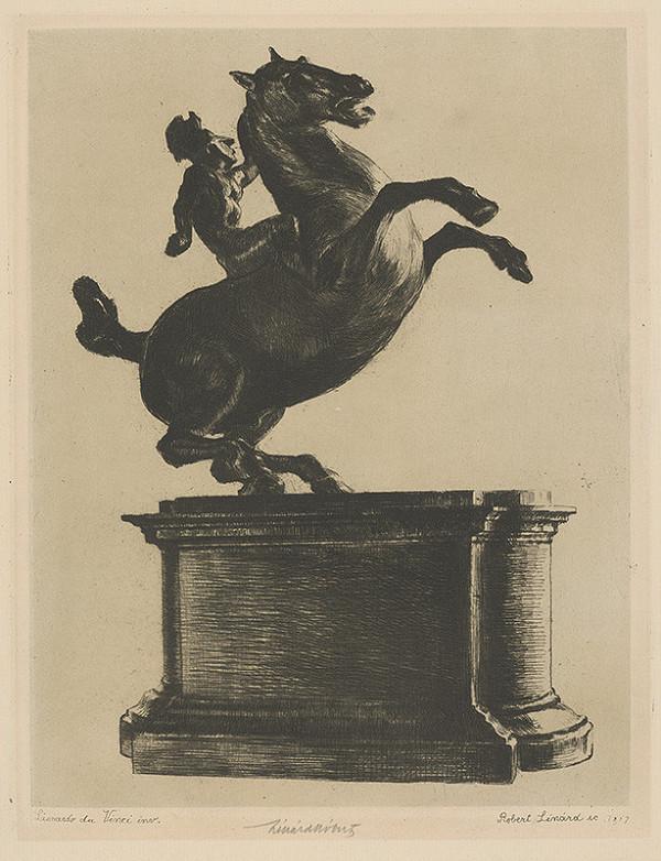 Rakúsky maliar zo začiatku 20. storočia - Jazdec