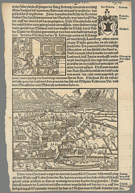 Stredoeurópsky grafik zo 14. storočia – List z Eidgenössische Chronik