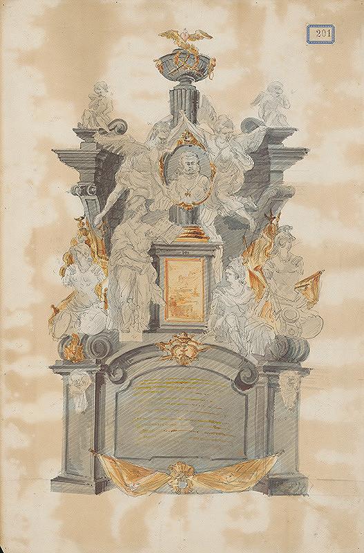 Stredoeurópsky grafik z 18. storočia – Návrh na náhrobok Jána Pálffyho