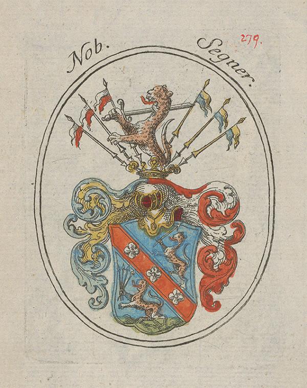 Stredoeurópsky grafik z 18. storočia – Erb Ondreja Segnera - richtára Bratislavy v 17. storočí