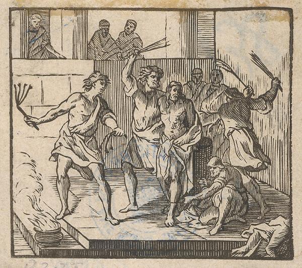 Stredoeurópsky grafik zo 17. storočia - Bičovanie Krista