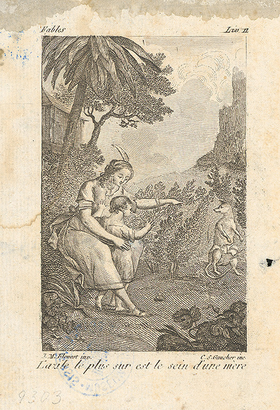 Charles Stephan Gaucher, Joseph Marie Flouest – Scéna z Lafontainovej rozprávky