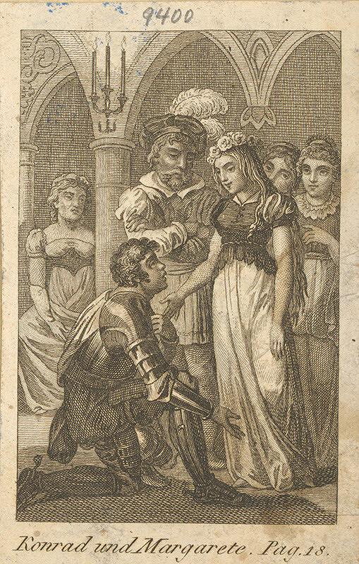 Nemecký grafik z 19. storočia – Konrád a Margaréta