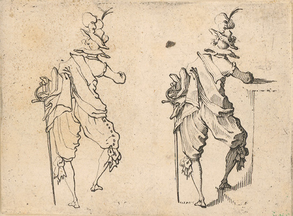 Jacques Callot - Kostýmový návrh III. (Rytier)