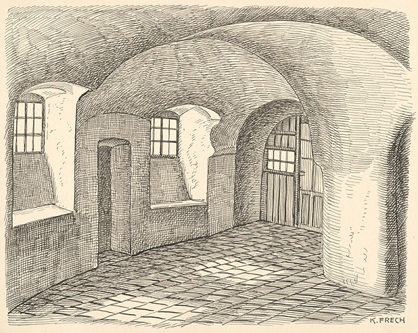 Karol Frech – Vnútro starého domu v Bratislave