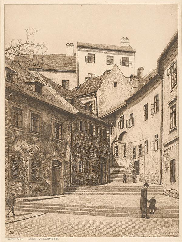 Stredoeurópsky grafik z 20. storočia - Zámocké schody v Bratislave