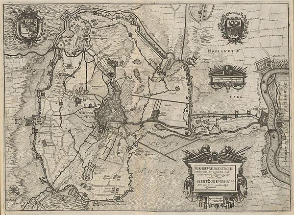 Stredoeurópsky grafik z 1. polovice 17. storočia - Plán opevnenia mesta Hertzogenbuschu
