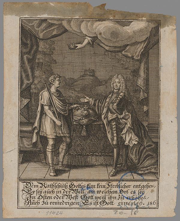 Stredoeurópsky grafik z 1. polovice 19. storočia - Cisár a patrícius