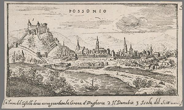 Jacob von Sandrart – Bratislava z juhu
