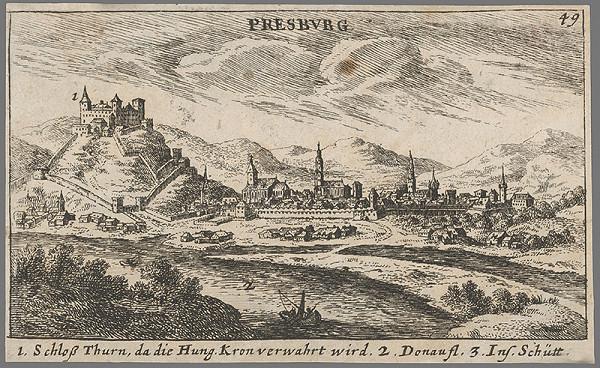 Jacob von Sandrart - Bratislava z juhu