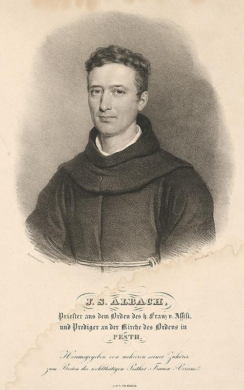 Miklós Barabás – Portrét J.S. Albacha-mních