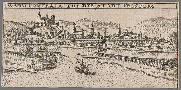 Stredoeurópsky grafik zo 17. storočia – Pohľad na Bratislavu