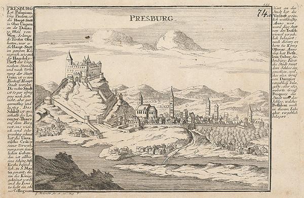 Gabriel Bodenehr st. – Bratislava z juhu