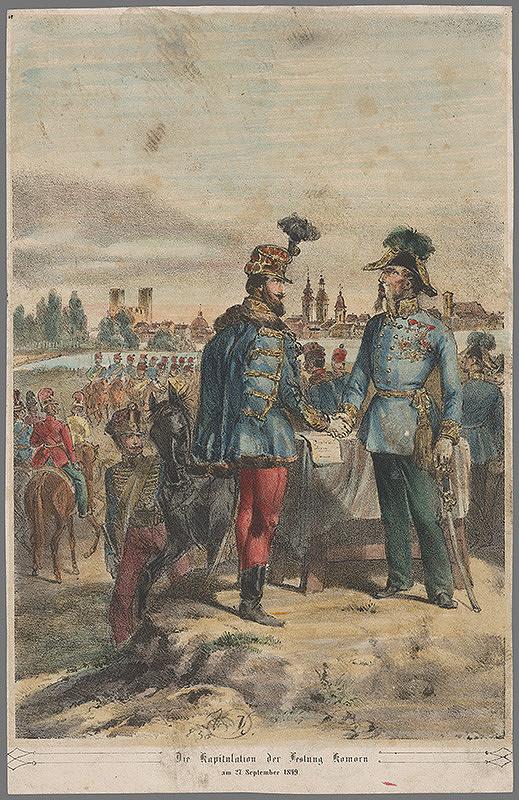 Vincenz Katzler – Kapitulácia pevnosti Komárno roku 1849