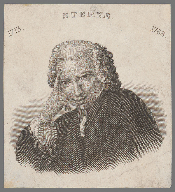 Stredoeurópsky grafik z 2. polovice 18. storočia - Podobizeň Sterneho