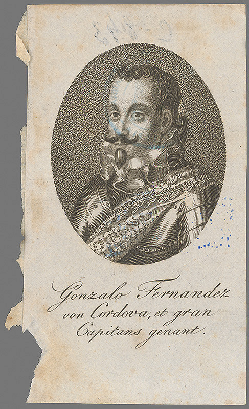 Stredoeurópsky grafik z 2. polovice 18. storočia - Podobizeň Fernanda Gonzala