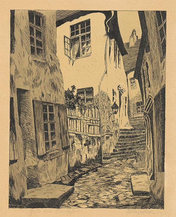 Slovenský grafik z 20. storočia – Zámocké schody v Bratislave