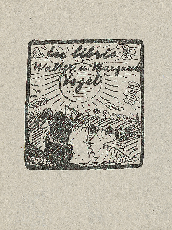 Stredoeurópsky grafik z 20. storočia - Ex libris Walter u. Margarete Vögel