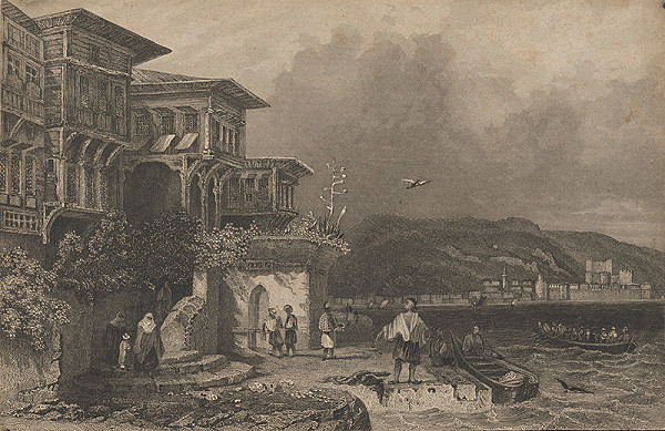 Stredoeurópsky grafik z 19. storočia – Turecký vidiek