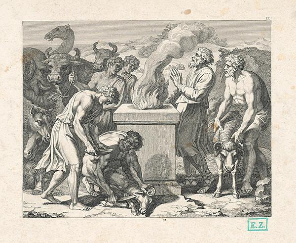 Josef Battmann, Raffael, Wilhelm Kandler - Obetovanie Izáka