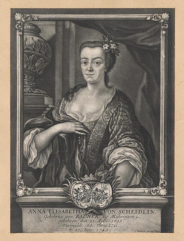 Gabriel Bodenehr st. – Portrét Anny Elisabeth von Scheidlin
