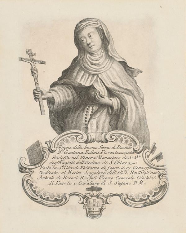Stredoeurópsky grafik z 2. polovice 18. storočia – Svätá Gaetana Follini