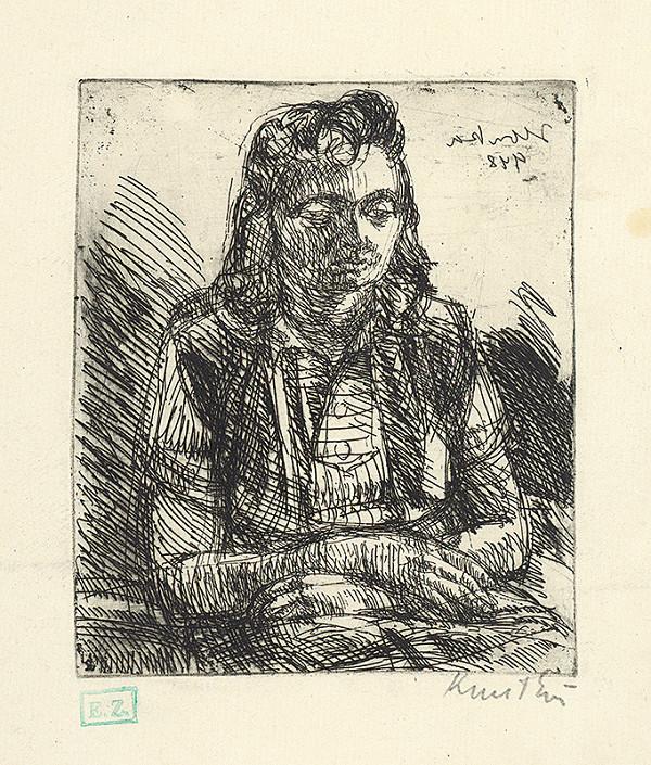 Ernö Kunt – Portrét sediacej ženy