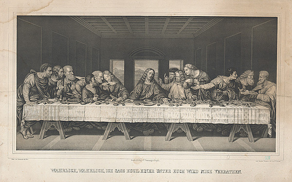 Raphael Morghen, W. Grabner, Leonardo da Vinci – Posledná večera