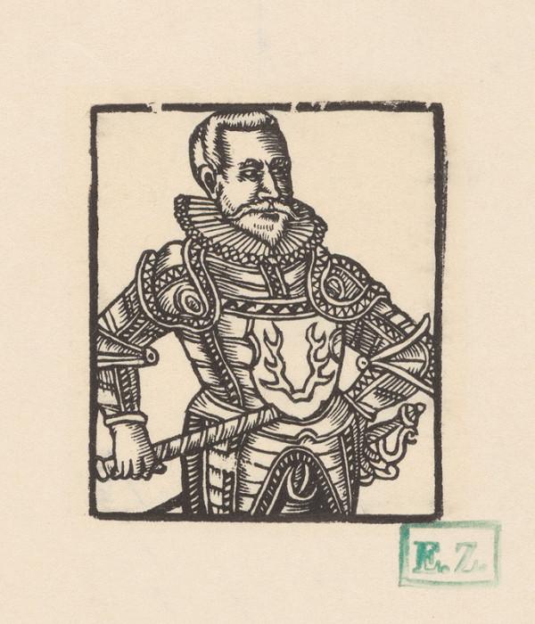 Stredoeurópsky grafik, Jan Willenberger – Fiktívny portrét Bernarda z Pržna, Bílkova a Bělovsi