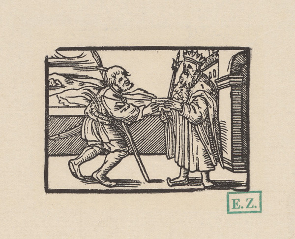 Kopisti, Hans Brosamer – Posol odovzdáva kráľovi list s pečaťou