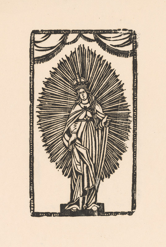 Slovenský grafik z 1. polovice 19. storočia – Svätá Mária - Kráľovná nebies