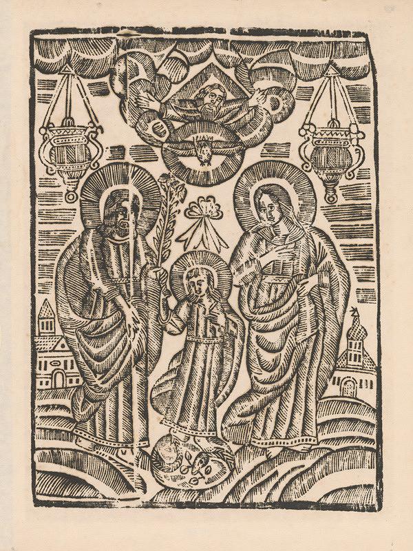 Slovenský grafik z 1. polovice 19. storočia - Svätá rodina