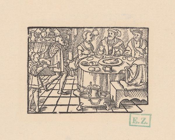 Kopisti, Hans Brosamer - Hostina s trubačmi
