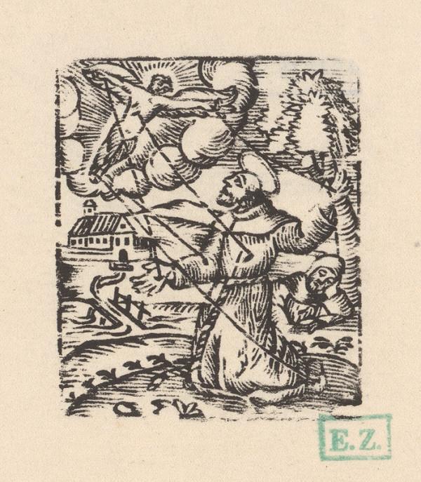 Provinčný grafik s barokovými rezíduami – Stigmatizácia Svätého Františka
