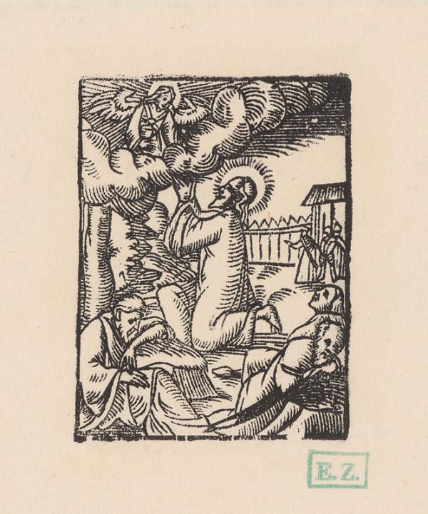 Kopista, Hans Leonhard Schäufelein, Monogramista IS s lopatkou – Kristus na Olivovej hore