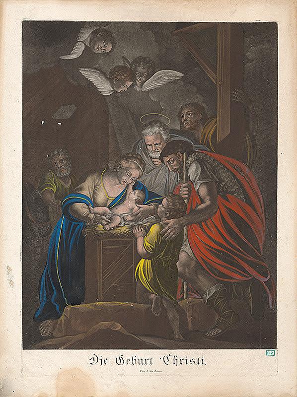 Rakúsky rytec z 18. storočia – Narodenie Krista