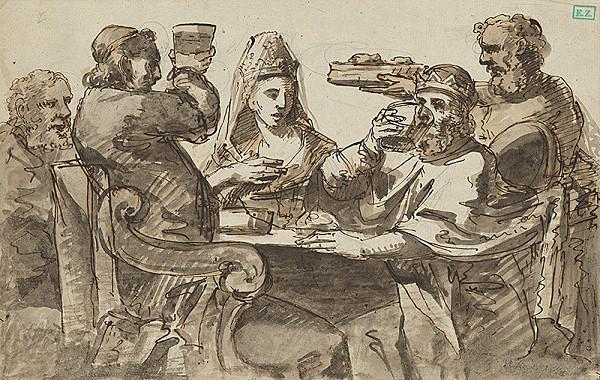 Stredoeurópsky majster z 2. polovice 18. storočia – Hostina u kráľa Dávida ?