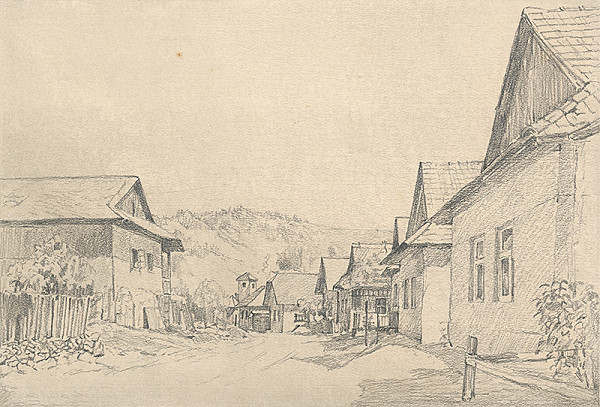 Viktor Hermély – Dedinská ulička