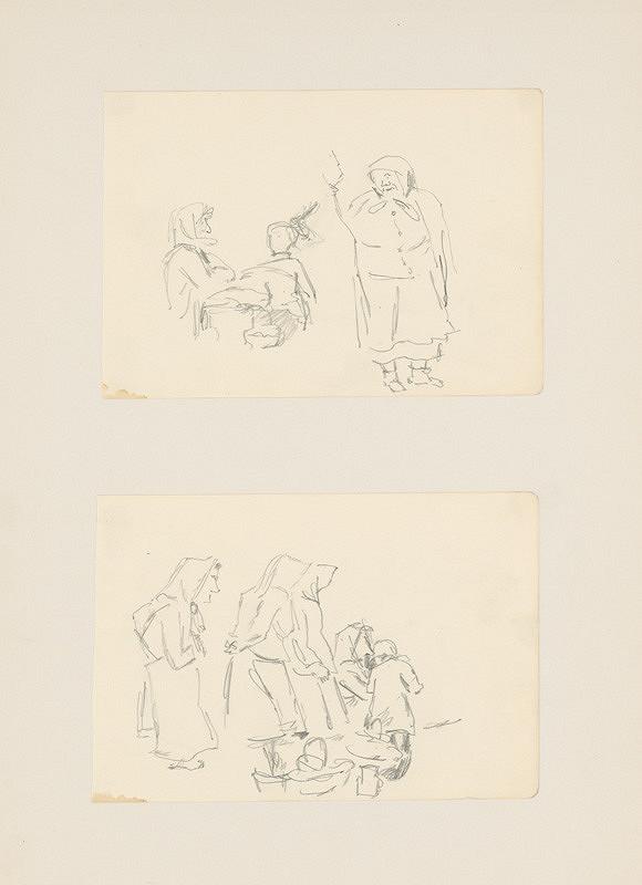 Emil Makovický – Dva náčrty figurálnej kompozície