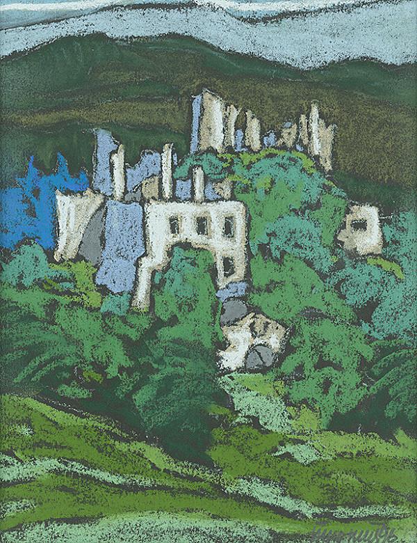 Ján Šimo-Svrček – Sklabinský hrad - zrúcaniny