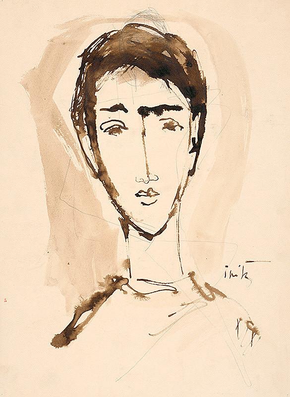Ernest Špitz - Hlava mladého muža