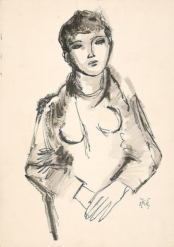 Ernest Špitz – Dievča so skríženými rukami
