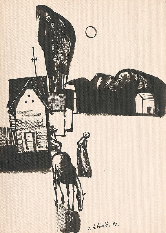 Vincent Hložník – Kresba z Oravy II.
