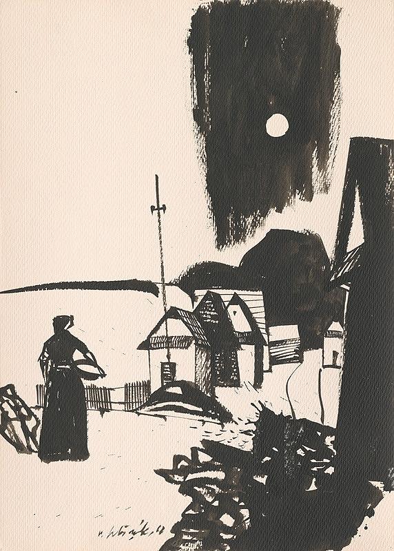 Vincent Hložník - Kresba z Oravy XLVIII.
