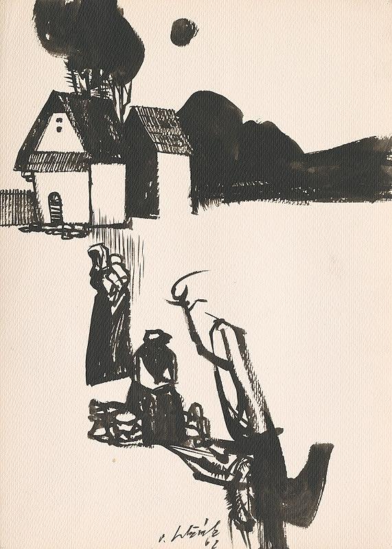 Vincent Hložník - Kresba z Oravy LIII.