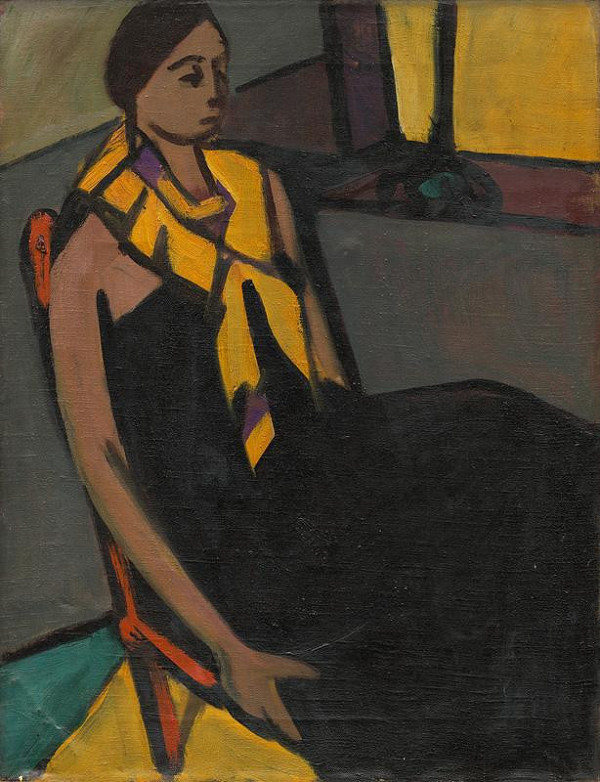 Eugen Nevan – Žena so žltou šatkou