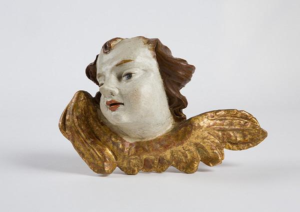 Slovenský rezbár z 2. polovice 18. storočia – Hlava anjela