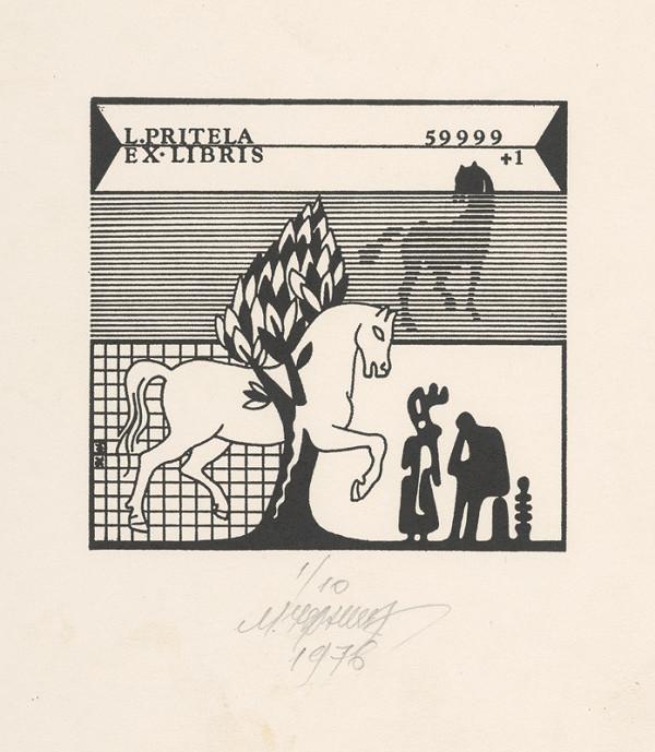 Mykola Černyš – Ex libris L. Pritela