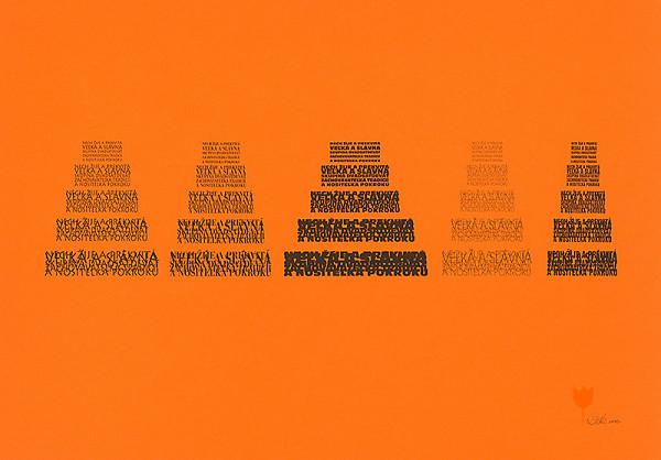 Peter Ďurík – Typografický plagát ku Skupine 29